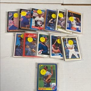 Lot of 12 Cleveland Indians team sets all differen